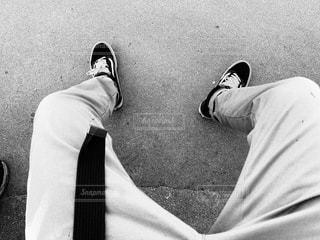 男の白黒写真の写真・画像素材[2223142]