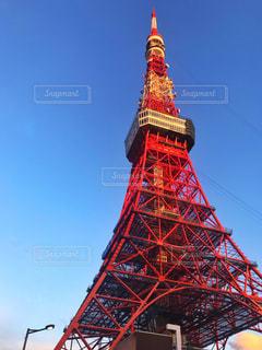 青空と東京タワーの写真・画像素材[2223981]