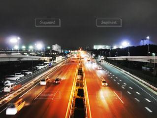 夜の高速道路の写真・画像素材[2278202]