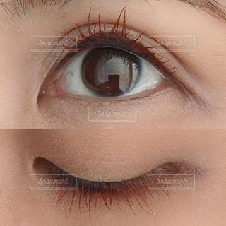 人の顔のクローズアップの写真・画像素材[3512600]