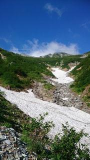 針ノ木大雪渓からの写真・画像素材[2221641]