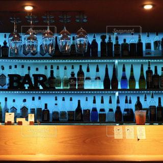 blue bar counterの写真・画像素材[2922934]