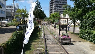 小樽がらす市の手宮線の風景の写真・画像素材[2408655]