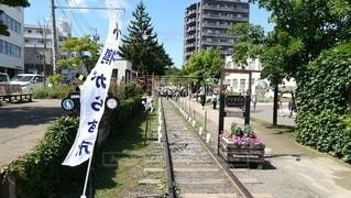 小樽がらす市、手宮線から見た風景の写真・画像素材[2408656]
