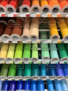 集まるだけで綺麗な色紙の写真・画像素材[2277420]