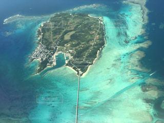 空から見た池間島の写真・画像素材[2229646]