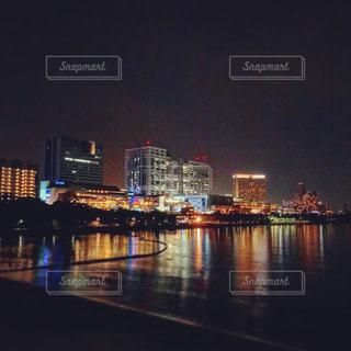 夜景が綺麗な夜のお台場。の写真・画像素材[966195]