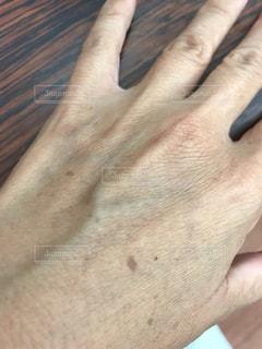 私の手はカサカサですの写真・画像素材[2486288]