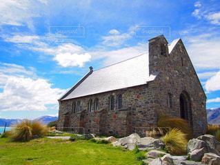 ニュージーランド・テカポ🇳🇿 善き羊飼いの教会の写真・画像素材[2244526]