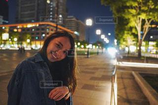 夜の東京駅にての写真・画像素材[2246302]