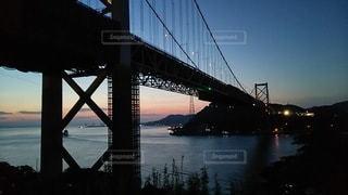 下関 夜明け時の関門大橋の写真・画像素材[2278460]
