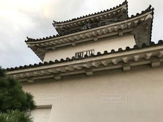 香川 丸亀城 夕暮れ時の天守の写真・画像素材[2730828]