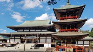 千葉 成田山新勝寺 三重塔と大本堂の写真・画像素材[2825900]