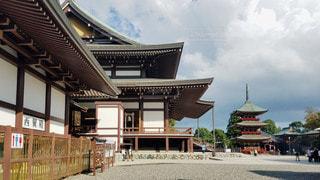 千葉 成田山新勝寺 大本堂と三重塔の写真・画像素材[2825904]
