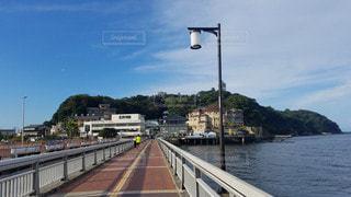 神奈川 江の島 江の島弁天橋からの遠景の写真・画像素材[2879683]