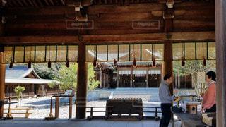 奈良 吉野神宮 外拝殿から見た拝殿の写真・画像素材[2914471]