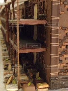 お菓子の家のクローズアップの写真・画像素材[4684756]