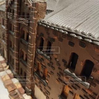 菓子で出来ている建物のズームの写真・画像素材[4684758]