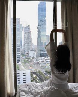 宿泊先ホテルの部屋からの景色の写真・画像素材[2485376]