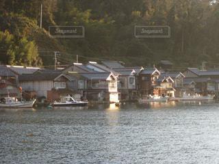 重要伝統的建造物群保存地区に指定された伊根の舟屋の写真・画像素材[2618314]