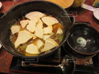青森でせんべい汁を食べるの写真・画像素材[2873993]