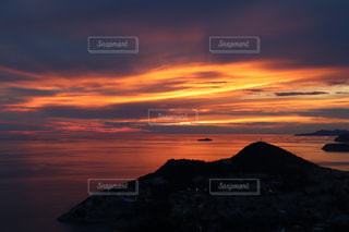 ドブロブニクの夕焼けの写真・画像素材[2264429]