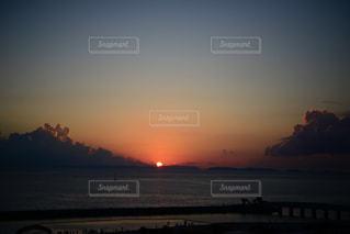 沖縄で見た夕日の写真・画像素材[2267987]