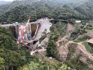 八ッ場ダム建設中の写真・画像素材[2277085]