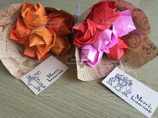 折り紙の花束の写真・画像素材[3184272]