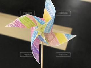手作りの風車の写真・画像素材[2256851]
