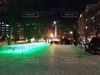 夜にライトアップされた大通り公園の写真・画像素材[2276108]