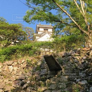 高知城の石樋(いしどい)。排水が直接石垣に当たらないようにしてます。の写真・画像素材[2269877]