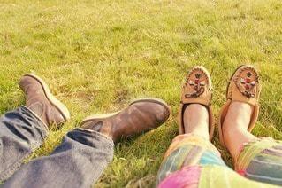 2人,ファッション,自然,風景,アウトドア,公園,春,靴,足元,足,夫婦