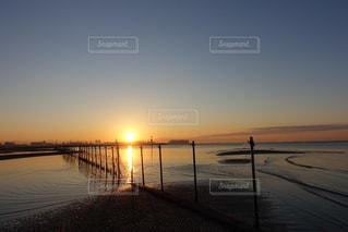 東京湾の日の出の写真・画像素材[2285759]