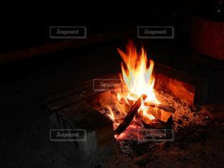 暖炉のクローズアップの写真・画像素材[2271439]