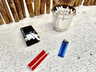 屋外喫煙スポットの写真・画像素材[2276961]