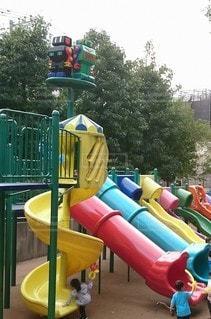 子供たちのハートをキャッチ【ロボロボ公園】の写真・画像素材[2387709]