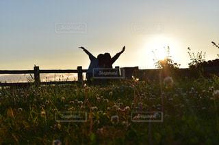 夕陽大好きすぎるの写真・画像素材[2301741]