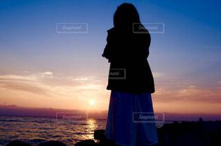 夕日を撮影の写真・画像素材[2294149]