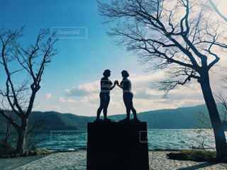 十和田湖の乙女像の写真・画像素材[2506360]