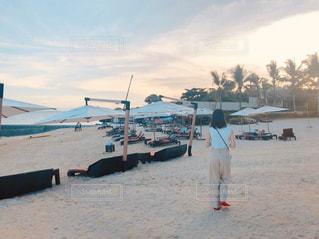 砂浜を散歩の写真・画像素材[2967089]