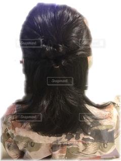 編み込みヘアーの写真・画像素材[3057062]