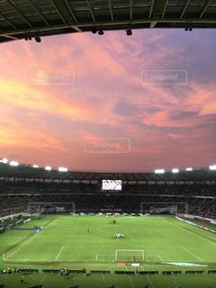 サッカー観戦の写真・画像素材[2287986]