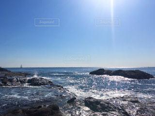 江ノ島の岩場の写真・画像素材[2756230]