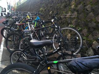 渋谷の自転車置場の写真・画像素材[2758446]