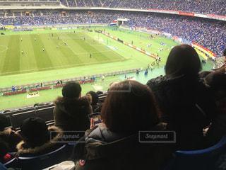 サッカー観戦の写真・画像素材[2784432]