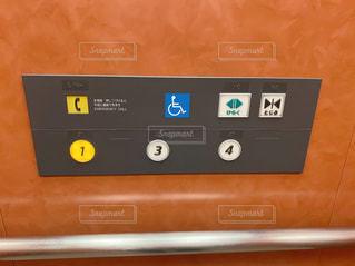 エレベーターのボタンの写真・画像素材[3275374]