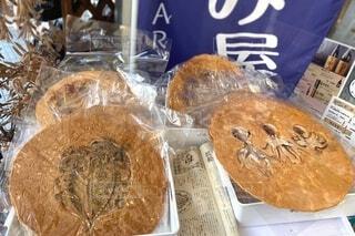 タコ煎餅と干物煎餅の写真・画像素材[3844964]