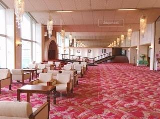 昭和レトロなホテルのロビーの写真・画像素材[4063045]