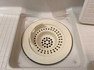 お風呂場の排水口の写真・画像素材[4096672]